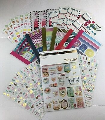 Creative Year Recollections Cre8te Space Planner Scrapbook Sticker Washi Set Lot