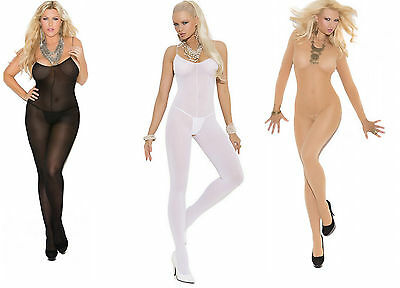 UK Opaque & Fishnet Bodystocking Best Seller Elegant Moments Bodysuit Catsuit