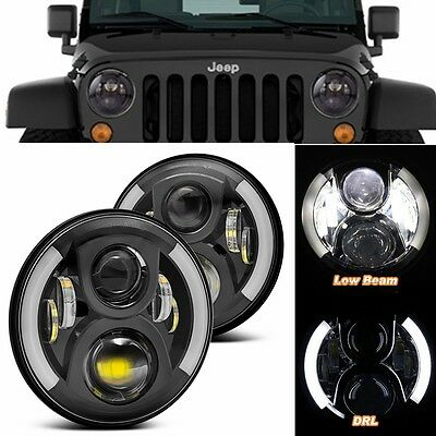 COPPIA FARI LED Land Rover 90/110 Defender Td5 ANGEL DRL