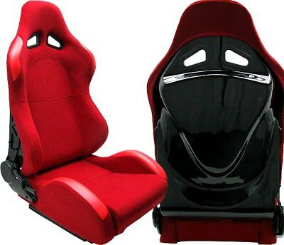2 Red + Black Back Cover Racing Seats Reclinable Bmw *