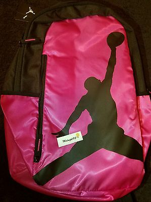 New Nike Air Jordan Jumpman Gym Backpack Laptop Book Bag Pink   Black d5cca7f3e8c13