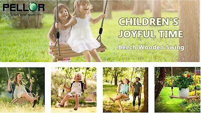 Outdoor Indoor Wooden Swing Seat Kid Adult Child Play High Back Swings Set Gifts