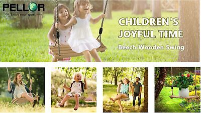 Wooden Swing Seat Kid Adult Play High Back Swings Outdoor Play Child  Xmas Gifts
