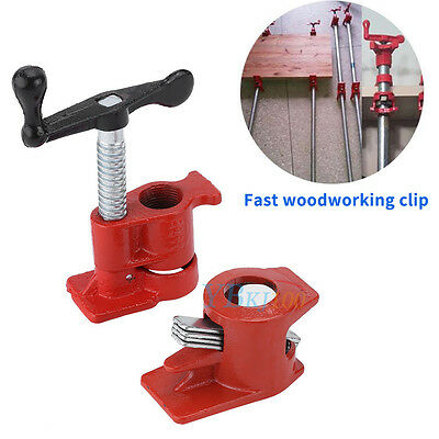 """3/4"""" Wood Gluing Pipe Clamp Set Heavy Duty PRO Woodworking Cast Iron New zhn"""