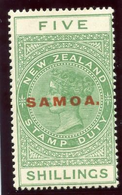 Samoa 1926 KGV 5s yellow-green MLH. SG 166b.