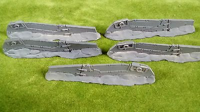 Warhammer 40k scenery Drop pod space marine vehicle defence line set of five