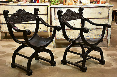Two French Dagobert chairs – black 1/2