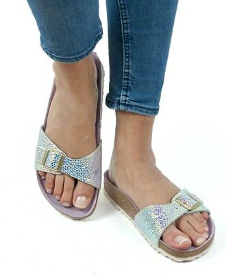 dfa3db0d6c3 Birkenstock Sandals Madrid Lux Ombre Pearl Silver Orchid leather narrow fit  NEW
