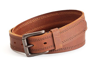 """LEVIS Mens Double Stitched Brown Leather BELT Size 40 (1.37"""" wide) NWT"""