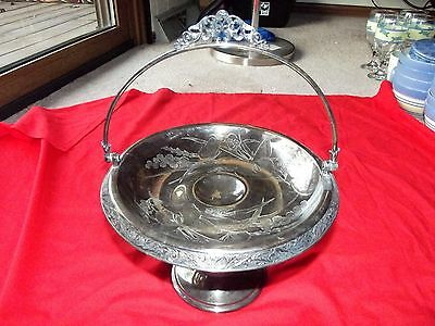 Pedestal Brides Basket Compote Meriden co. 1803 Quadruple silverplate victorian