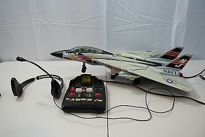 Vintage Remote Control Toy Airplane Jet Navy USS Kitty Hawk By New Bright 1990