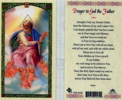 Prayer to God the Father Holy Cards, Almighty God, My Eternal Father I Adore You