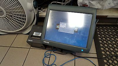 400814-001 Micros POS WS5 w/ Epson M129H Printer + Windows CE 6.0 + WORSTATION 5