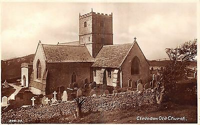 POSTCARD   SOMERSET   CLEVEDON    Old  Church