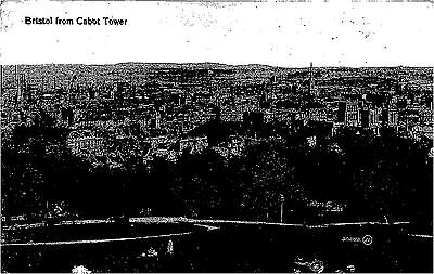 POSTCARD    BRISTOL    From  Cabot  Tower