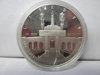 1984 US Olympic Proof Silver Dollar Commemorative Dollar Coin Capsule