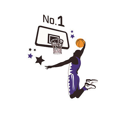 SY Basketball Dunk Sports Decal Art Wall Sticker DIY Home Room Decor