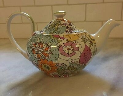 Liberty of London for Target Floral Teapot Pink Yellow Blue Orange Green