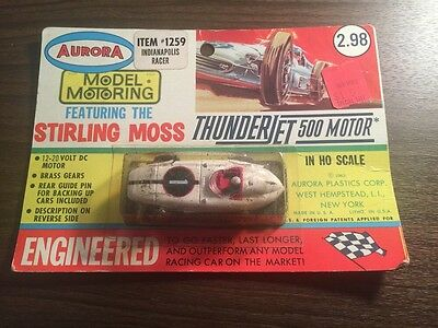 Aurora Thunderjet 500 #1259 Indianapolis Racer Unopened Blister package Wow!