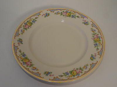 Ensley Old Ivory Syracuse Dinner Plate Blue Flowers 9 3/4 inch China Plate