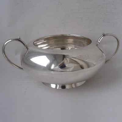 Smart Solid Sterling Silver Sugar Bowl 1919. L15,8 cm