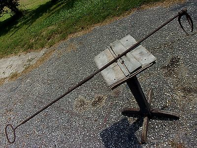 Antique Vtg Railroad Steam Engine boiler Firebox Clinker Removal Grabber Tool RR