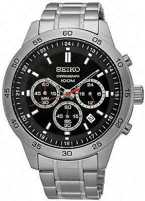 SEIKO SKS519P1 Neo Sport Chronograph 1/10 Second 100M Gents 2Year Guar RRP £250.