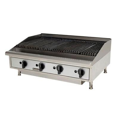 "Toastmaster TMRC48 48"" Countertop Radiant Gas Charbroiler Grill"