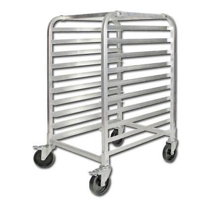 Winco - ALRK-10BK - 10-Tier Aluminum Bun Sheet Pan Rack