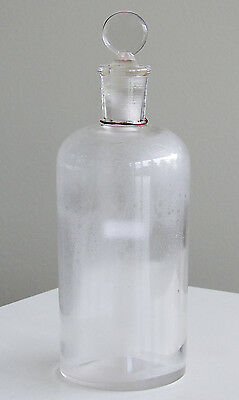 Antique/VTG Drug Store Pharmacy Apothecary Medicine Glass STOPPER Bottle RX605