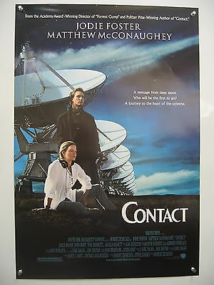 Contact-Jodie Foster-Orig Poster-One Sheet Nm