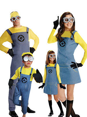 Fancy Dress Minion Costume ~ Despicable Me Boys / Girls / Adult Character Outfit