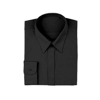 Chef Works - W150-BLK-M - Black Women's Server Dress Shirt (M)