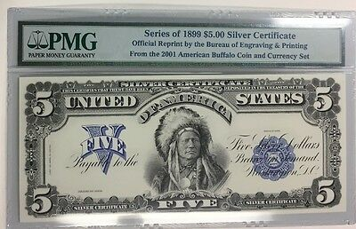 Series Of 1899 $5 Silver Certificate Official Reprint