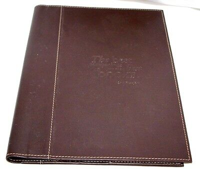 "Swing Brown Faux Leather Book Cover 10"" x 6.5"""