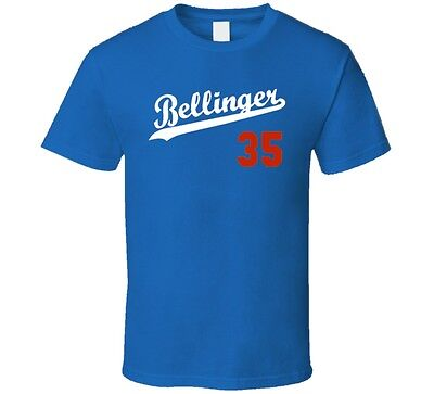 Cody Bellinger Los Angeles rookie initials baseball player logo Royal blue T Shi