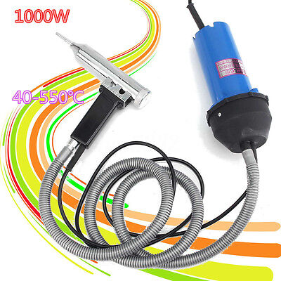 1000W Hot Air Welding Gun Plastic Pistol Weld Heat Gun Hot Gas Set Kit 40-550℃