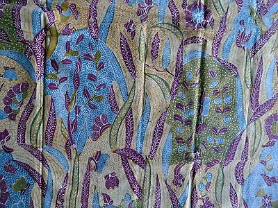 Old Fully Handmade Indonesian Batik Tuli Kain Textile nicely faded
