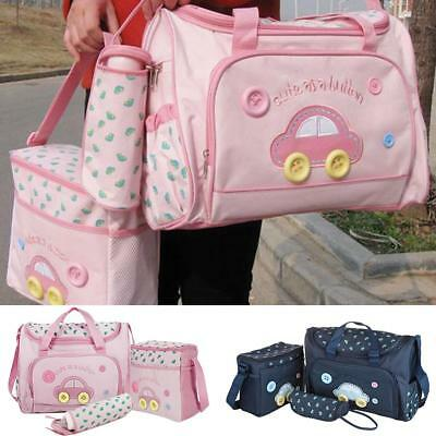 NEW 4Pcs/set Waterproof Baby Diaper Nappy Mummy Travel Bag Changing Handbag