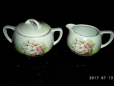 Antique RS Germany Sugar Bowl And Creamer