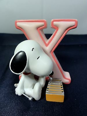 """Peanuts Westland Snoopy Charlie Brown """" Alphabet Letter X """" Figurine Numbered"""