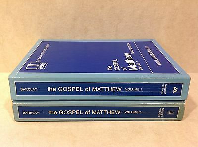 The Gospel of Matthew, Vol's 1 & 2 [Revised Ed] by William Barclay (pbk)