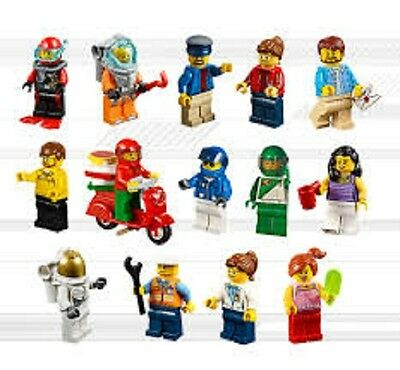 Lego City Minifigures people boy dad male mini figure fig family worker