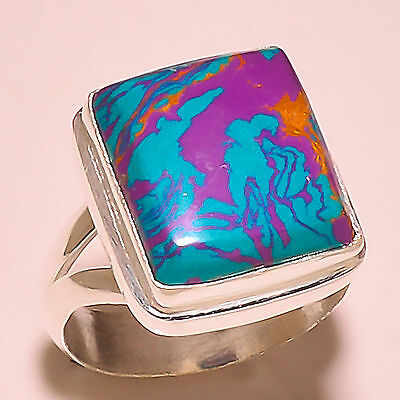 Rainbow Calcite 925 Solid Sterling Silver Ring Size 8 Us