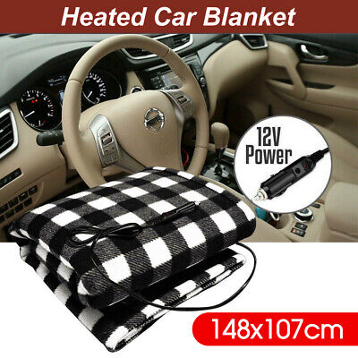 Car Blanket Electric Travel Throw Rug Caravan 12V Heated Soft Fleece Volt  AU