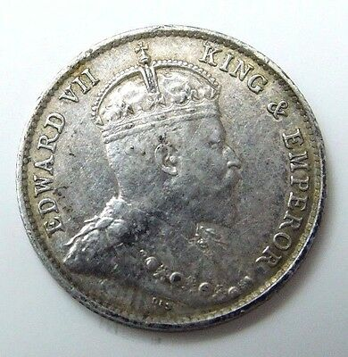1904 HONG KONG 5 Cents silver coin foreign NR