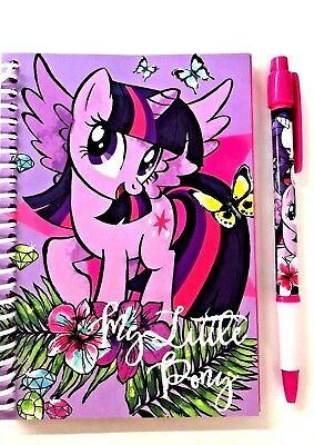 My Little Pony A6 BOOK & PEN - Party Bag - School - Gift -WH2 -TBL :PS981 : NEW