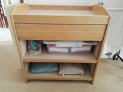 Wood Baby Nursery Nappy Changing Unit Table with Drawer