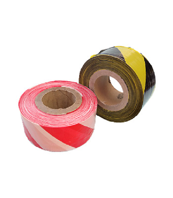 1 Roll Black/Yellow Red/White Non Adhesive Hazard Barrier Tape 72mm x 500m