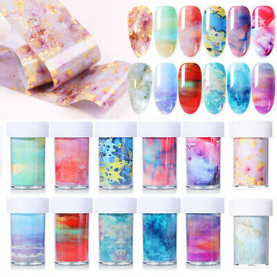 Nagel Folie Nail Foil Transfer Sticker Decal DIY Nail Art Tips Maniküre Dekor